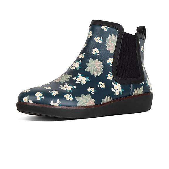 93ab446343c7c Add to bag. CHAI. Dark Floral Leather Chelsea Boots