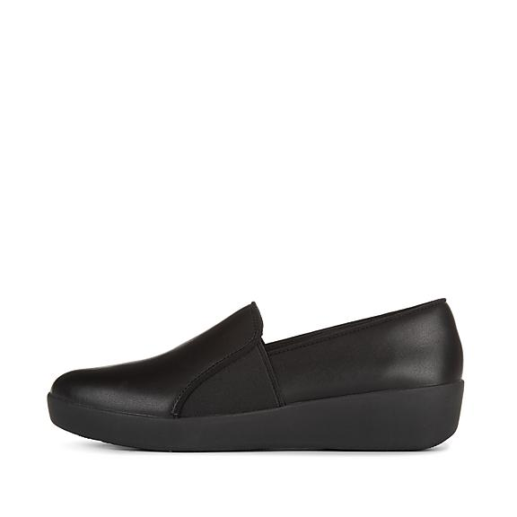 핏플랍 꼴레뜨 슬립온 - 블랙 FitFlop COLETTE Slip-On Skate Shoes,Black