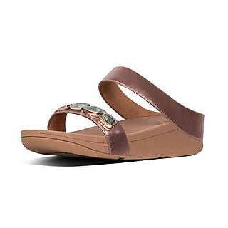 8f7114a9be62 Women s FINO Faux-Leather Slides
