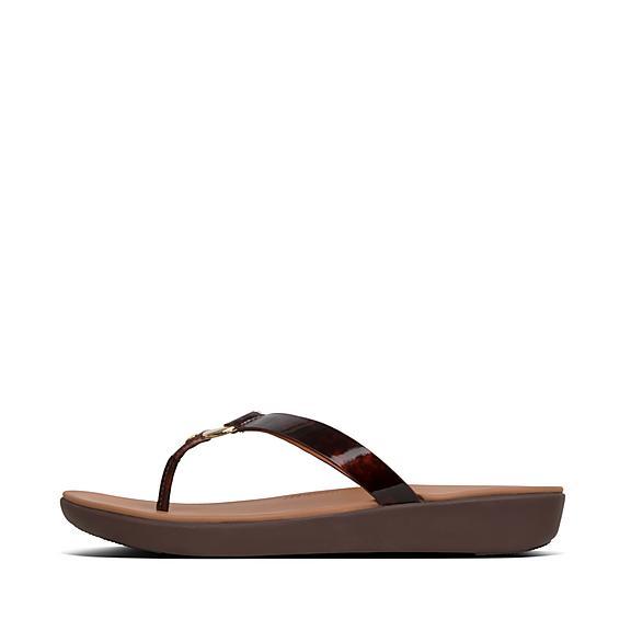 ff6c5cccc Add to bag. HOOPLA. Tortoiseshell Toe-Thongs.  90.00. NEW · Fitflop Gold  Lulu Slide Sandals ...