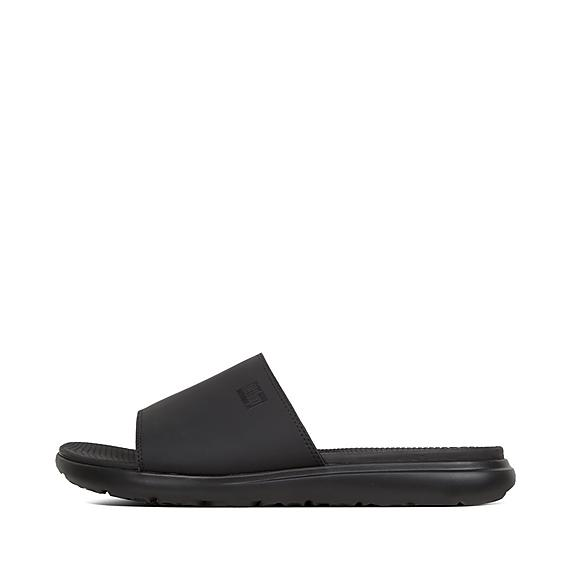 핏플랍 리도 슬라이드 블랙 FitFlop LIDO II Neoprene Pool Slides,Black