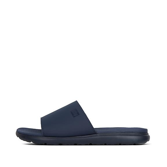 핏플랍 리도 슬라이드 네이비 FitFlop LIDO II Neoprene Pool Slides,Midnight Navy