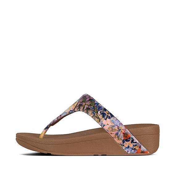 72094a89b79b Add to bag. LOTTIE. Flowercrush Leather Toe-Thongs
