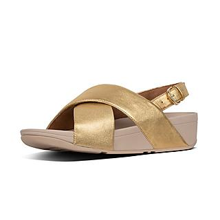 33005d17b43d Metallic Leather Back-Strap Sandals.  100.00. LULU