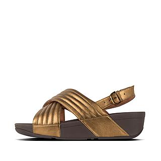 f120c35f382f Metallic Leather Back-Strap Sandals. £70.00. LULU