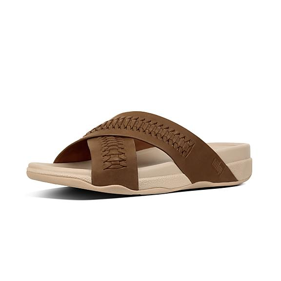 68f03fd6a Add to bag. SURFER. Men s Woven Leather Slides