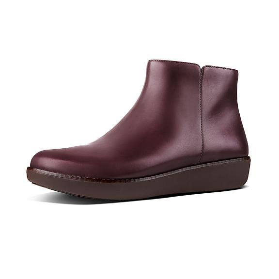 5b2d4d660fb6a Add to bag. ZIGGY. Leather Zip Ankle Boots