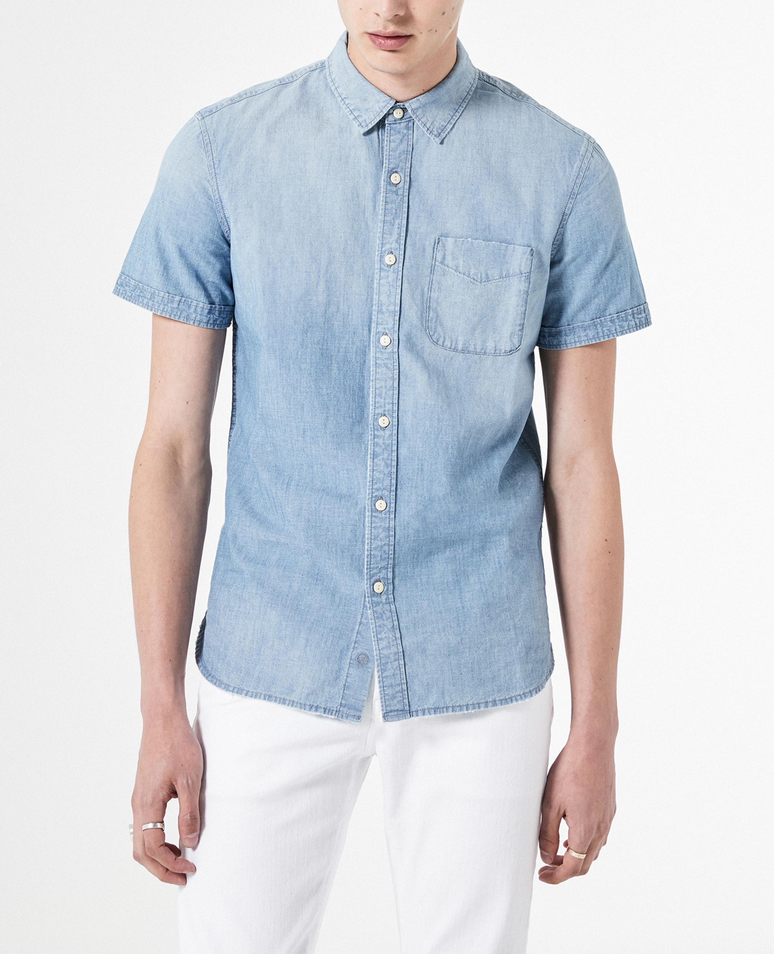 AG Adriano Goldschmied Mens Pearson Short Sleeve Button Down