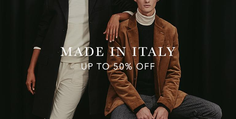 Select Made In Italy styles now up to 50 percent off