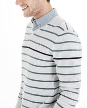 The Farrell Stripe V-Neck