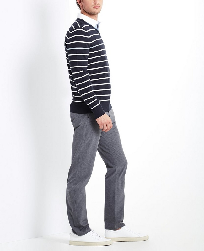 The Farrell Stripe V Neck