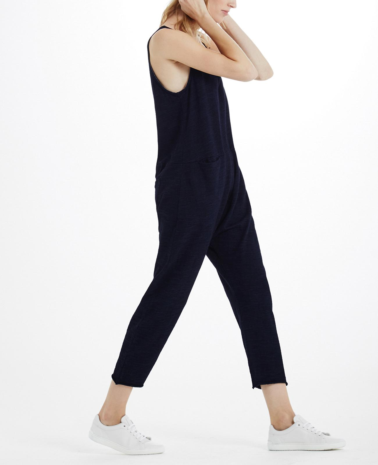 4358c2dcb731 The Abyl Jumpsuit in Indigo Knit One AG Jeans Official Store
