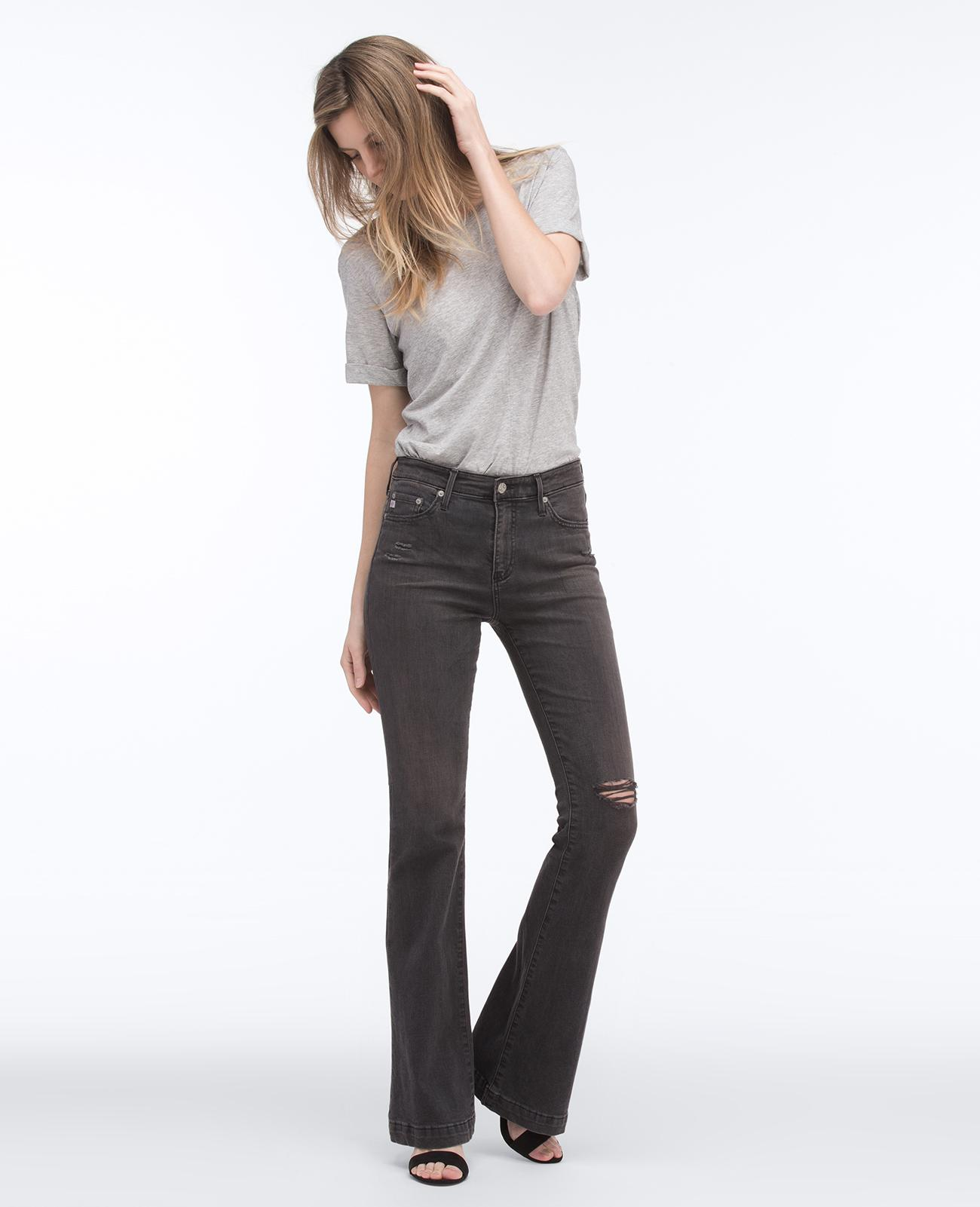 10 Janis Worn The Years Well Flare Official Jeans Ag Black In CWrxoBde