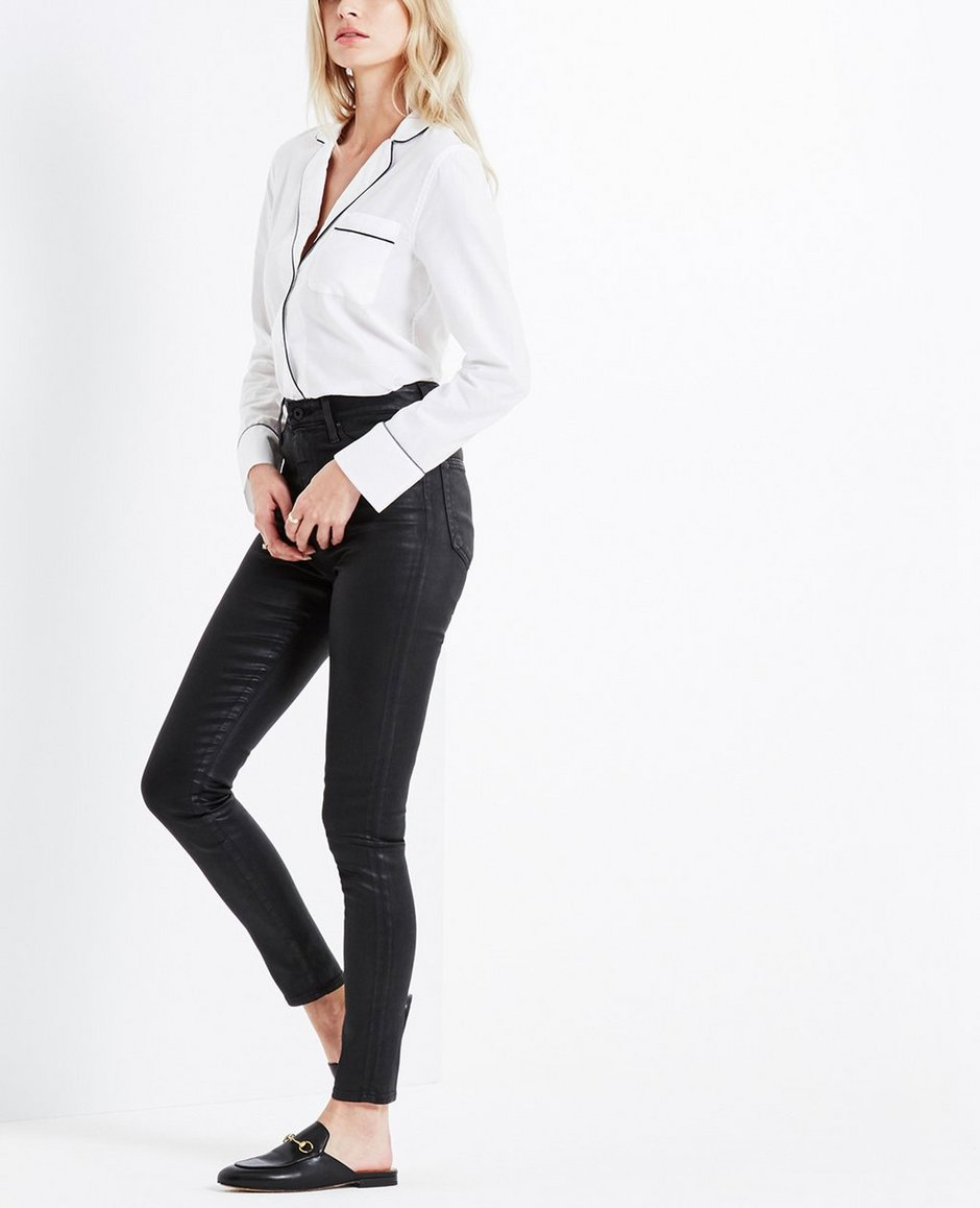 cd4b72fbc5e0 The Iris Shirt In True White After Dark Tops & Shirts AG Jeans ...