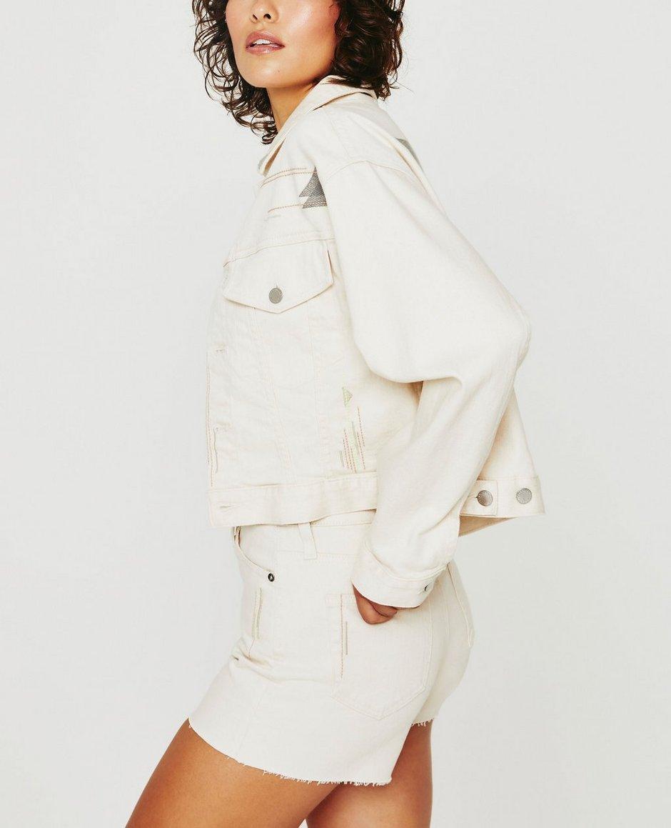 Mirah Cropped Trucker Jacket