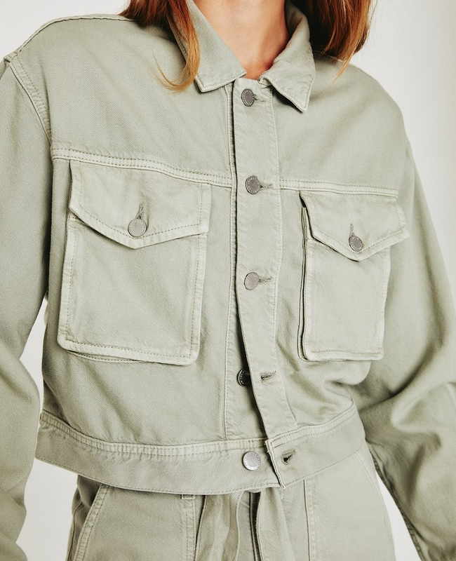 Mirah Cropped Trucker Jacket