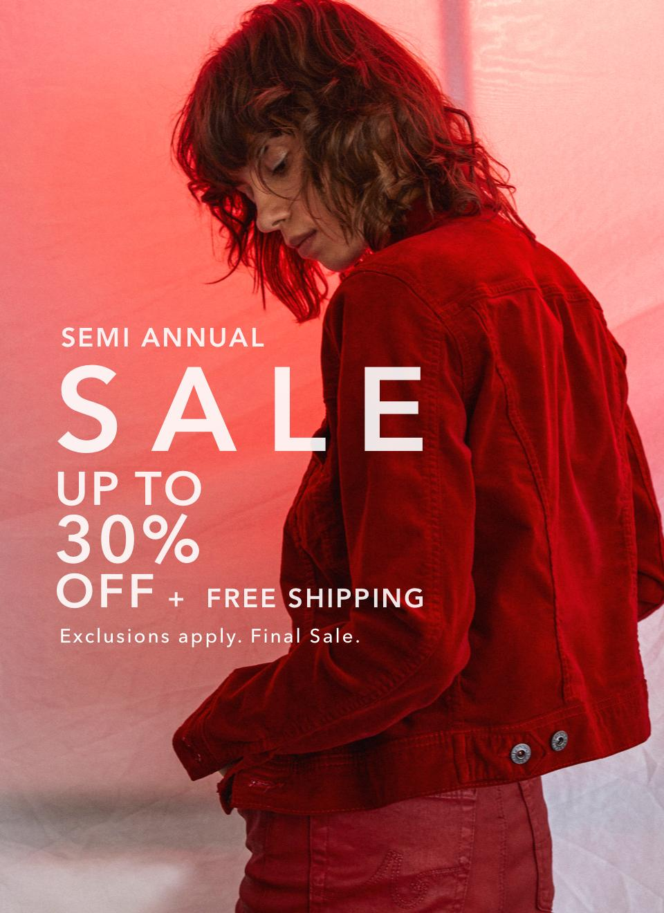 Shop Up to 30% Off During The Semi Annual Sale