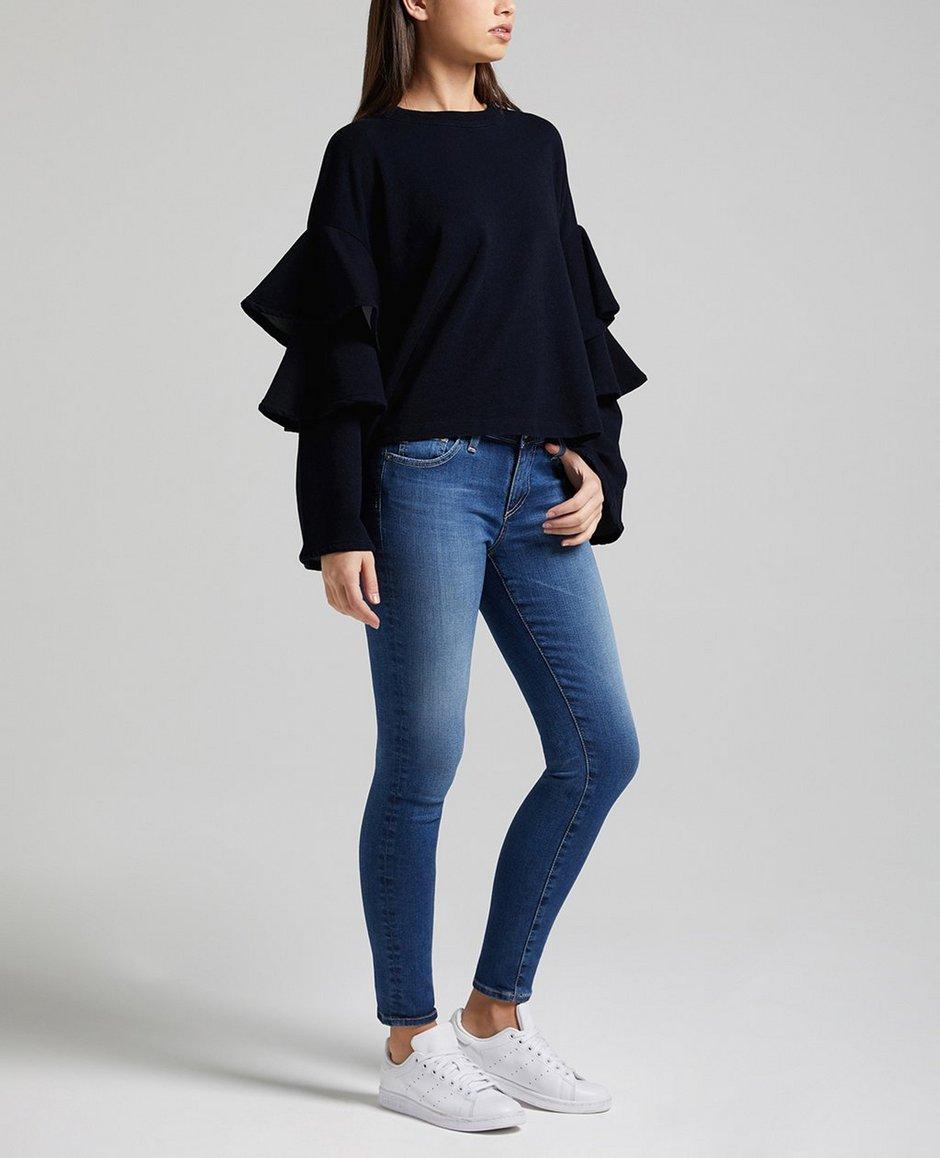 The Pearl Ruffle Sweatshirt