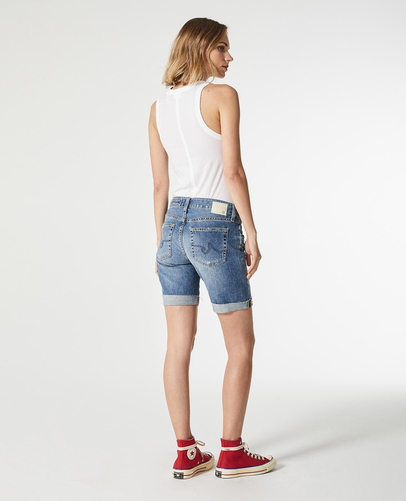 3107595ab9 The Nikki Short in 16 Years Indigo Deluge Destruc AG Jeans Official ...