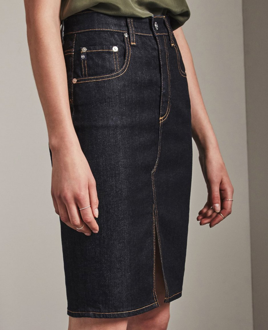 8aa52009bb The Emery Skirt in Indigo Autumn Skirts Ag Jeans Official Store