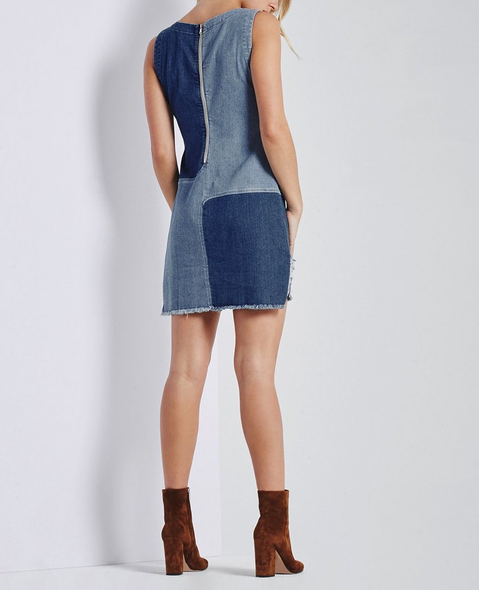 91b238d5f7 The Indie Dress in Blue Mystery - Patched AG Jeans Official Store