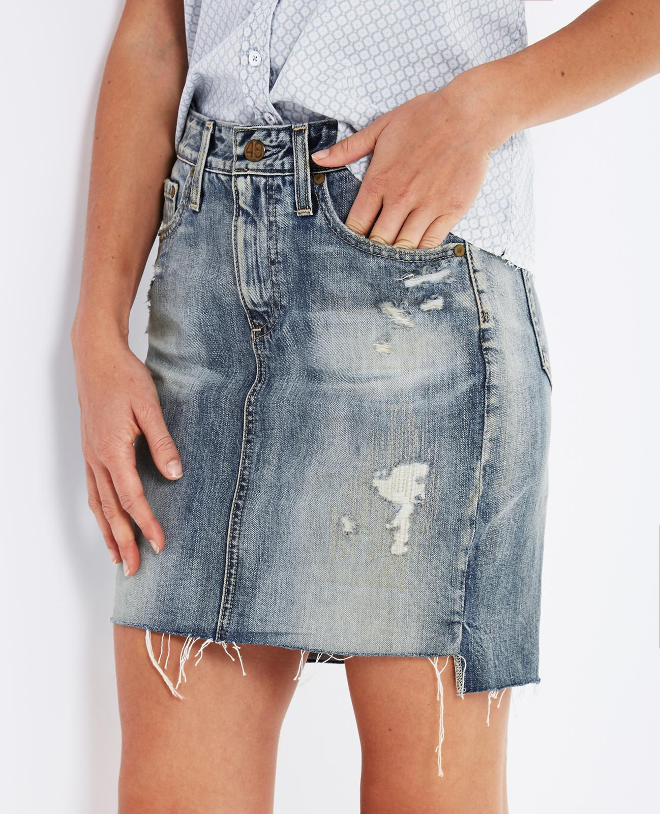 21a1ccfef8 The Erin Skirt in 17 Years Lapse Mended AG Jeans Official Store