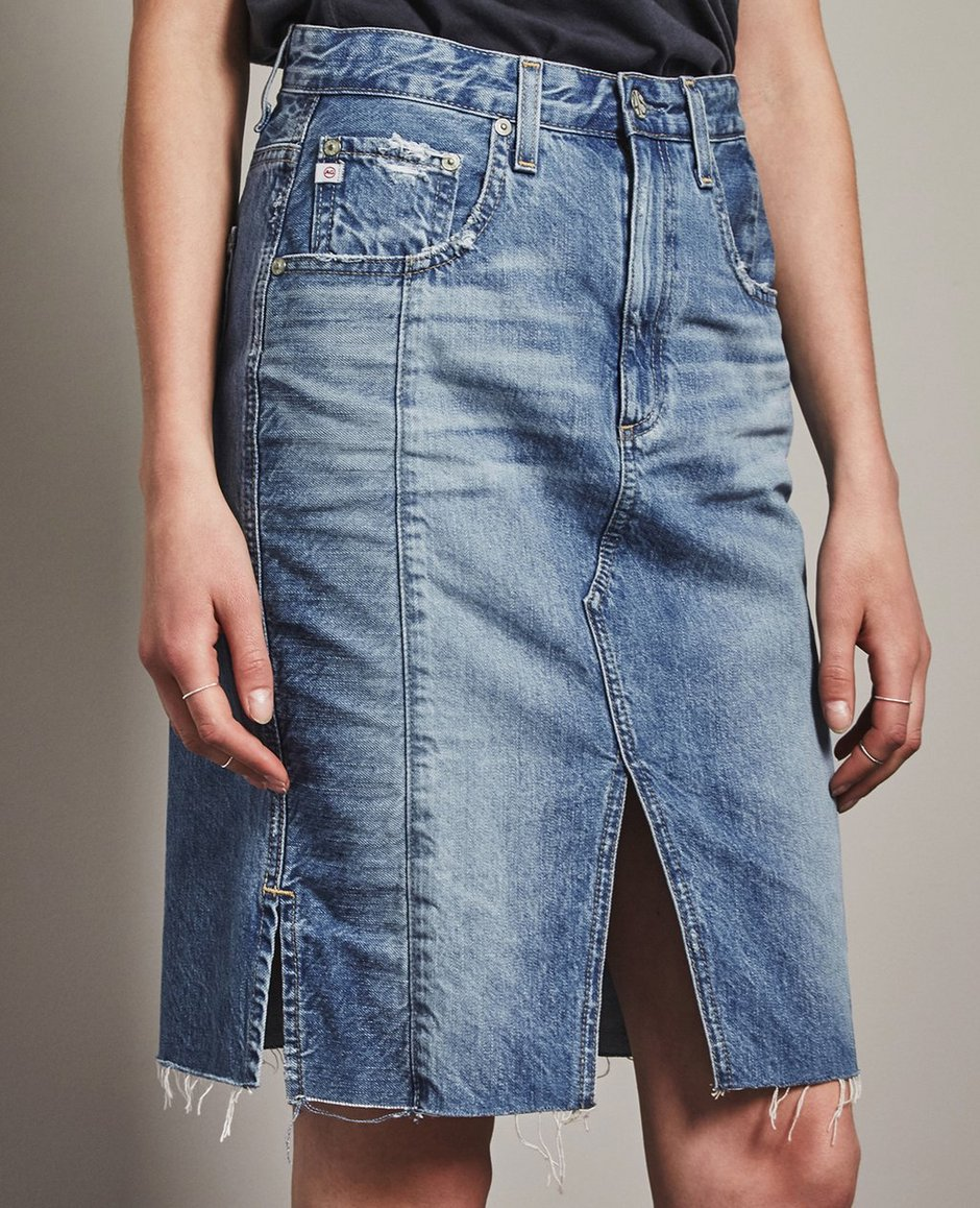 9c435a2fc5 The Emery Skirt in 18 Years Blue Fawn AG Jeans Official Store