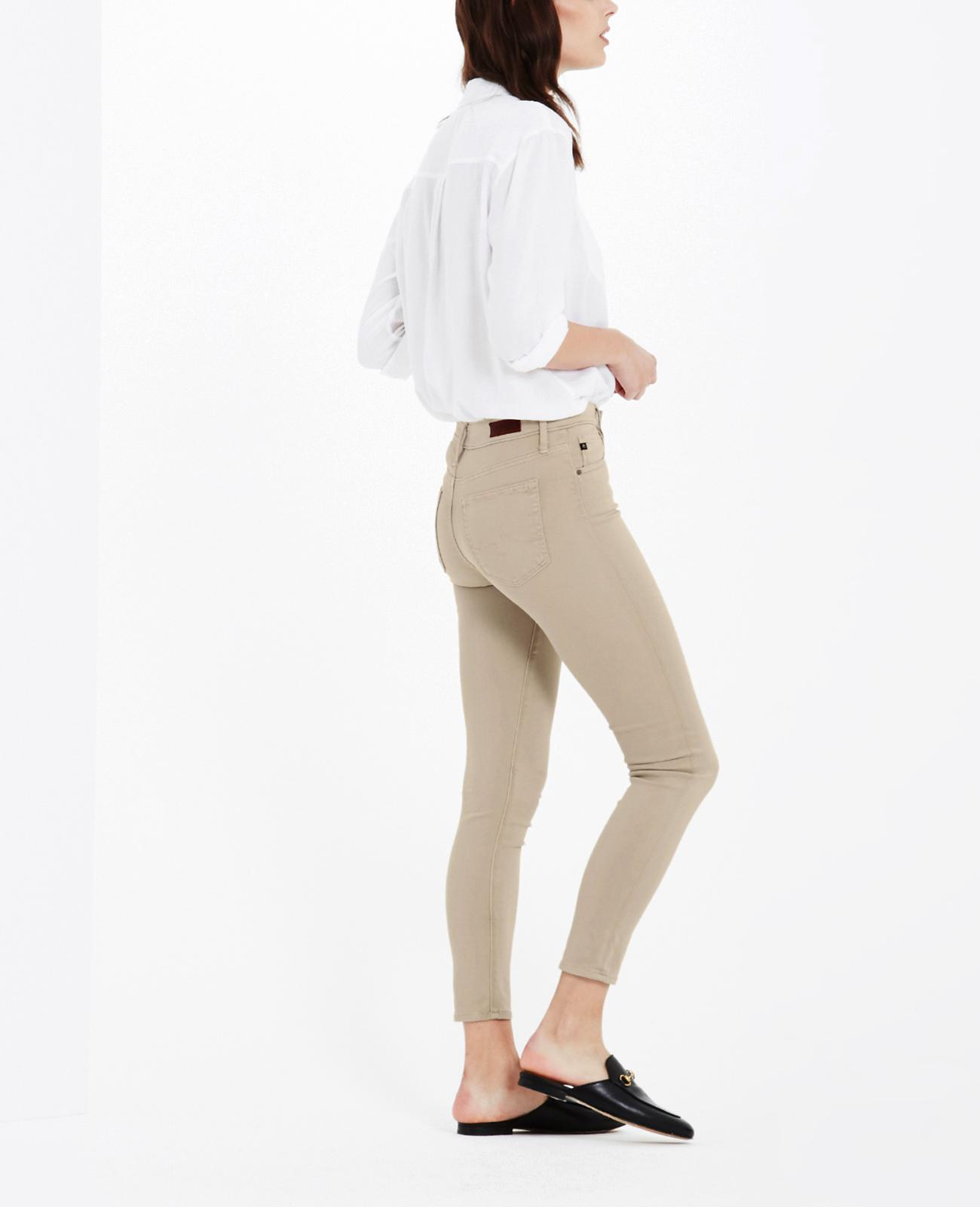 AG Adriano Goldschmied Womens Sateen Farrah Skinny Ankle