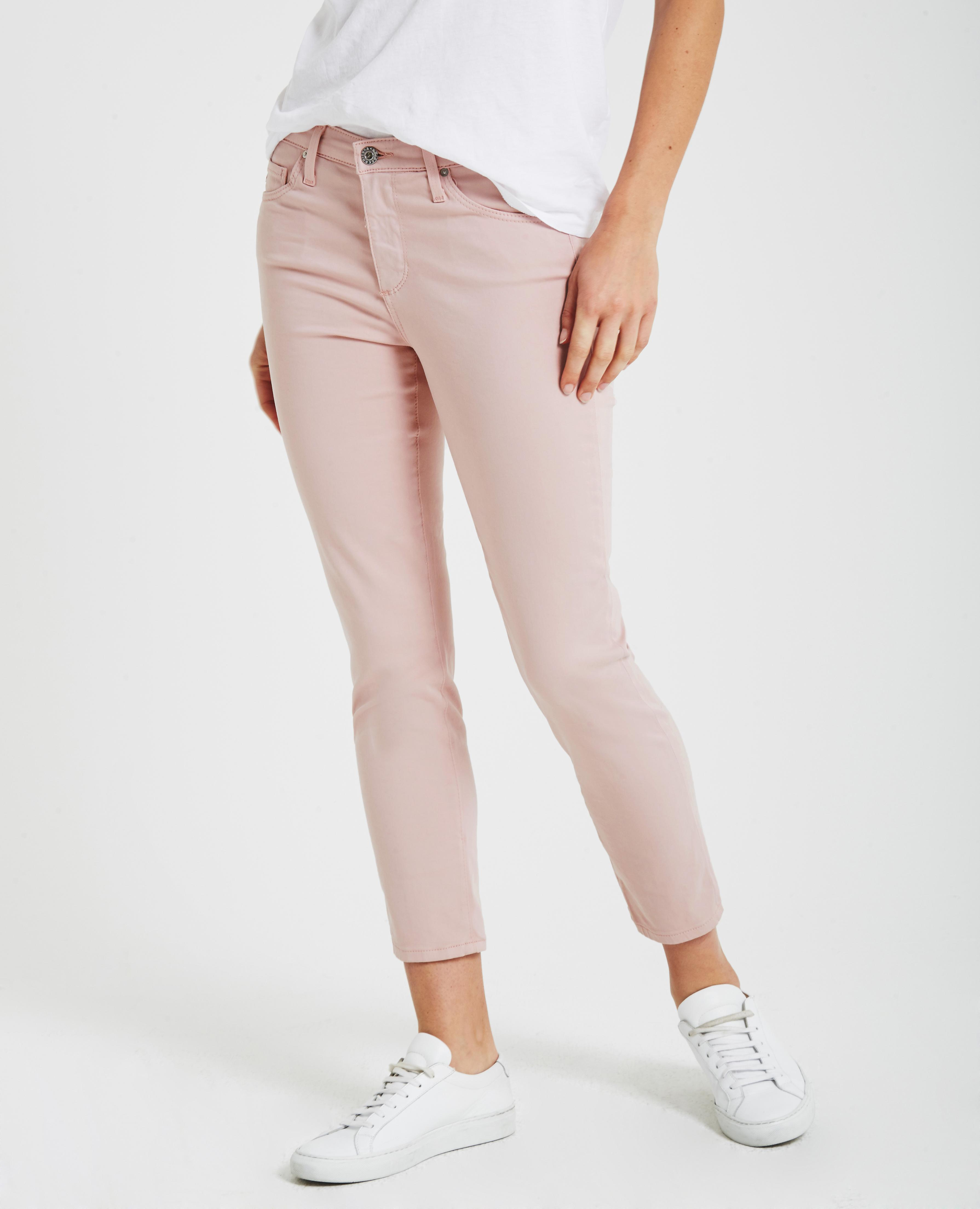 0c7779fce3e The Prima Crop in Rose Quartz AG Jeans Official Store