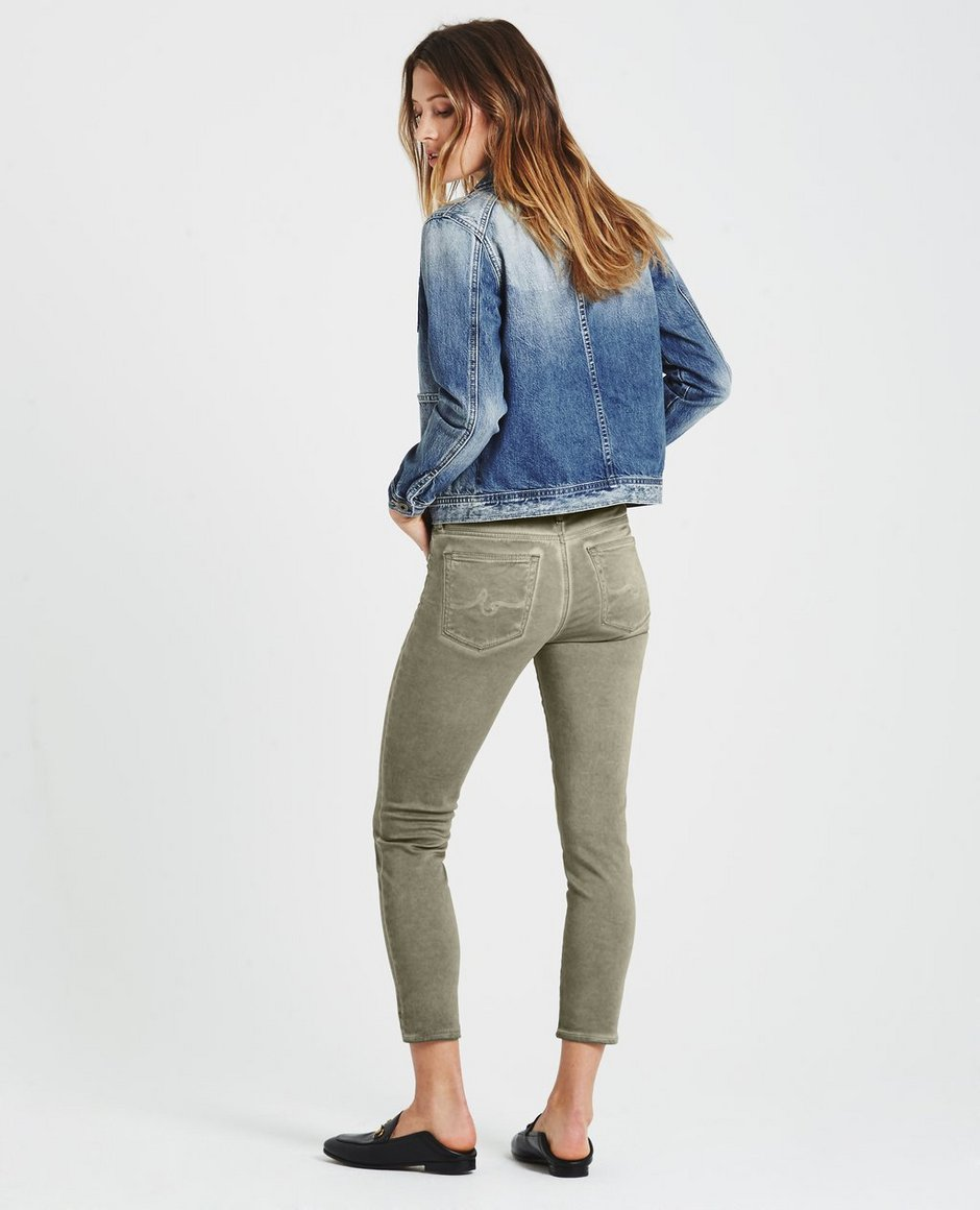 2240bcedb55 The Prima Crop in Sea-Soaked Silver Sage AG Jeans Official Store