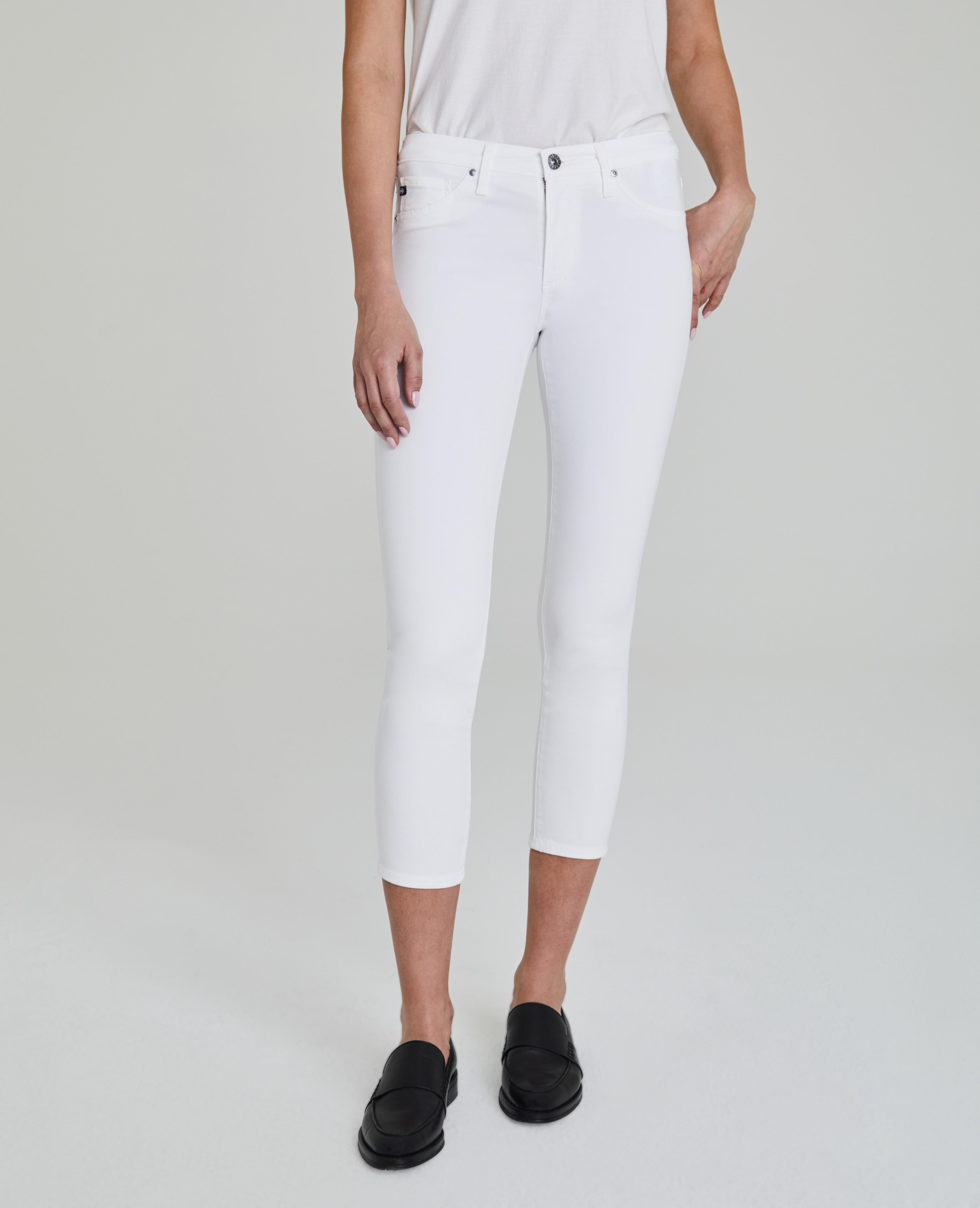 233191b0d3d The Prima Crop in White AG Jeans Official Store