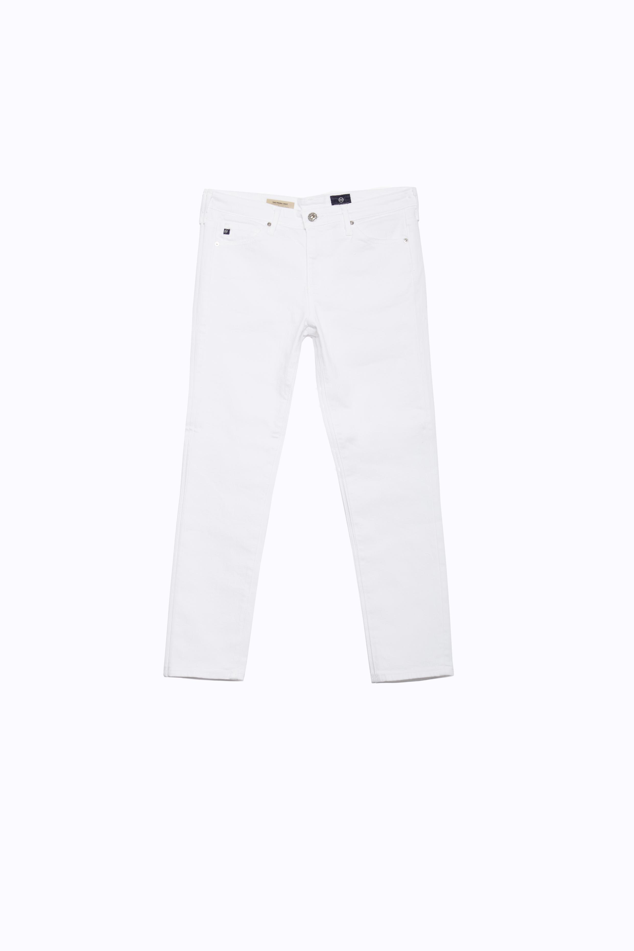 7040d711825 The Prima Crop In White Cropped Jeans AG Jeans Official Store
