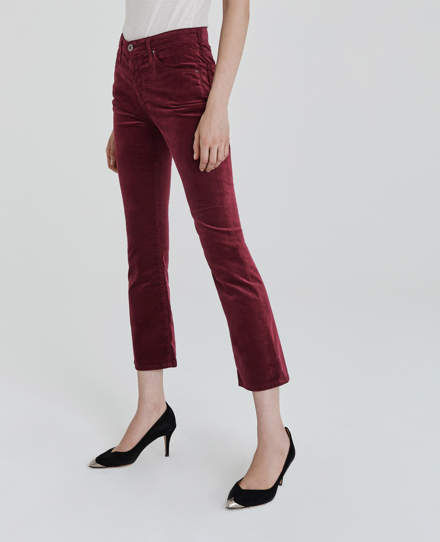 AG Adriano Goldschmied Womens Jodi Velvet Crop Jean