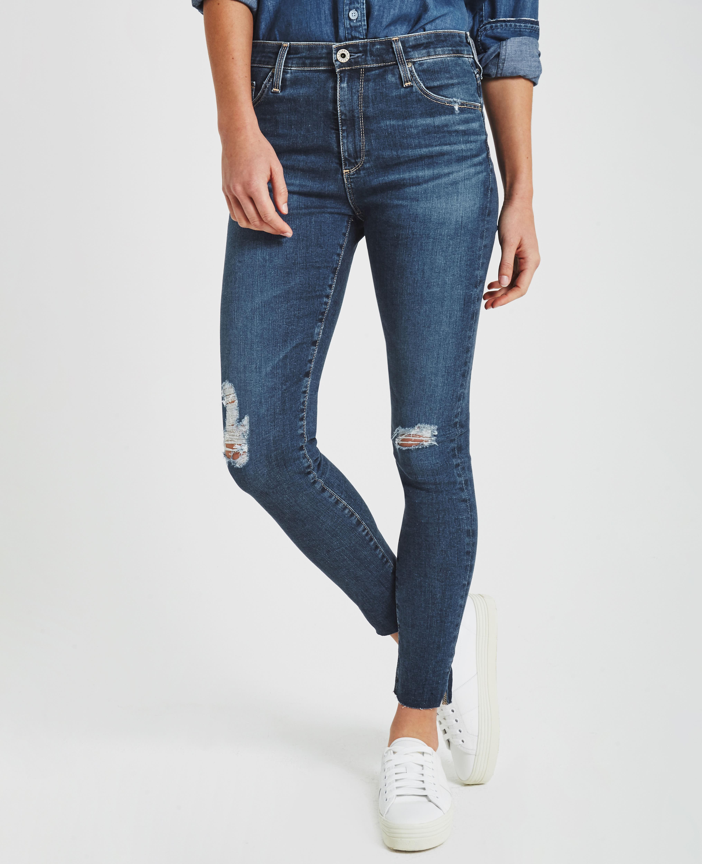 3715bb83bebad The Farrah Skinny Ankle in Interim Destroyed Skinny Jeans AG Jeans ...