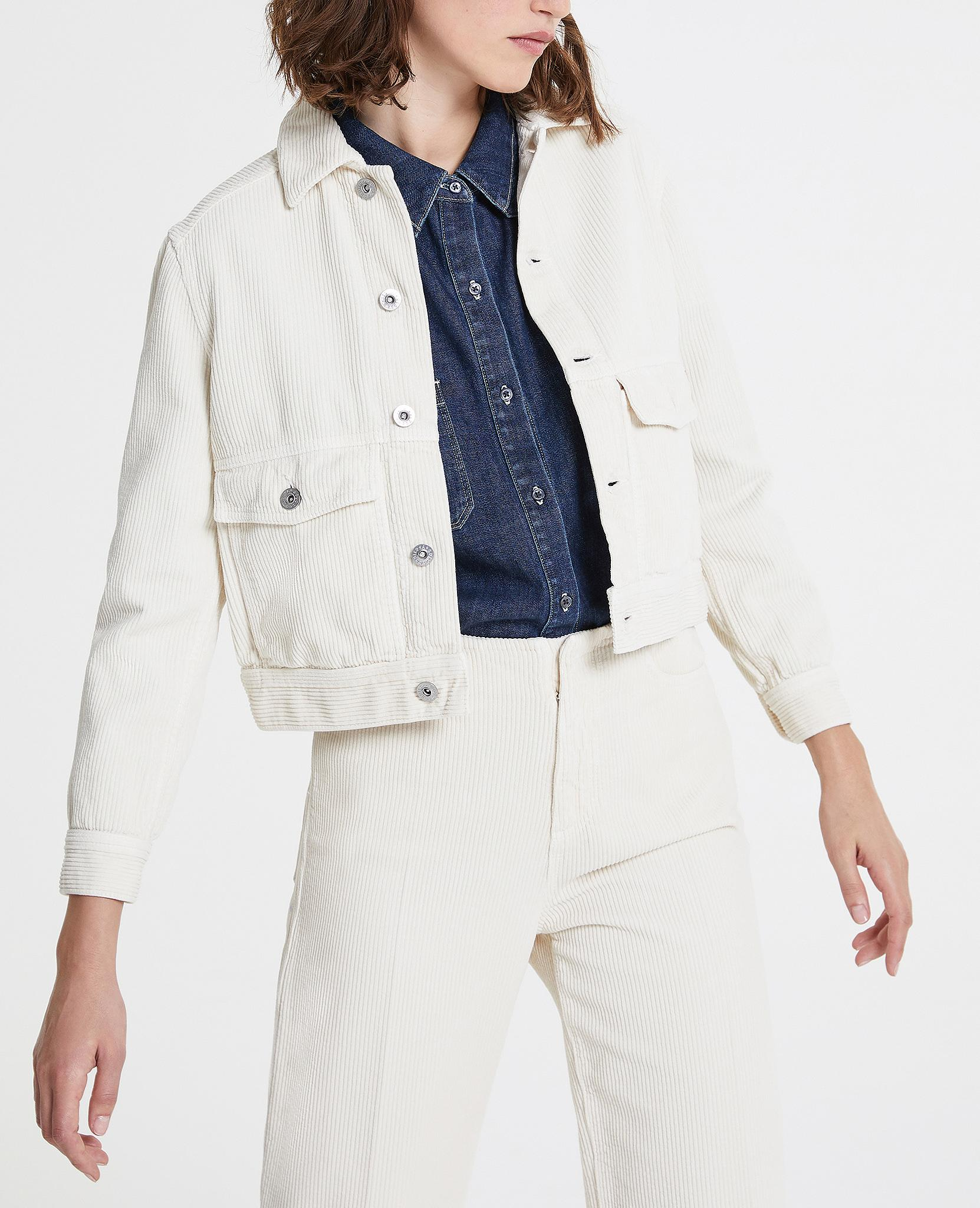 325461c8ba The Evonne Workwear Cropped Jacket in Ivory Dust AG Jeans Official Store