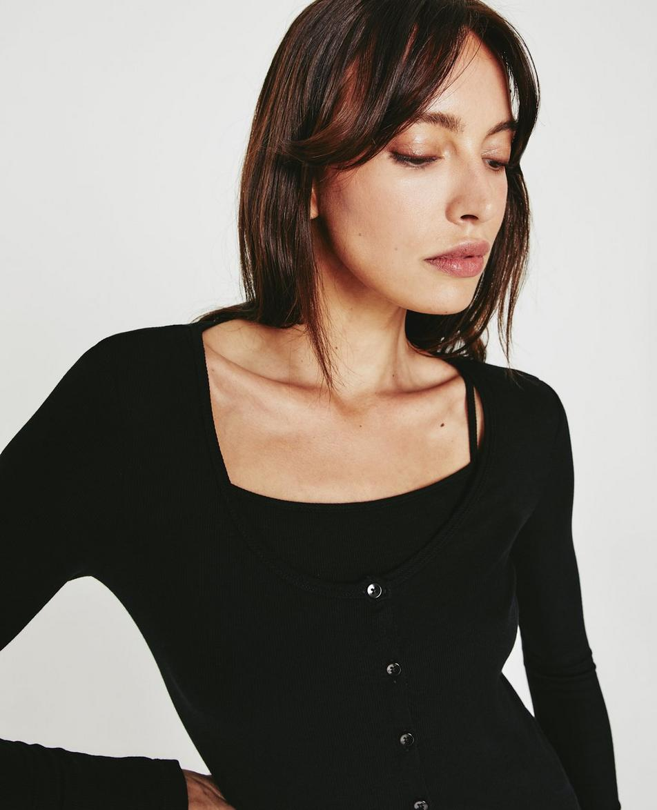 Mia L/S Scoop Neck Top