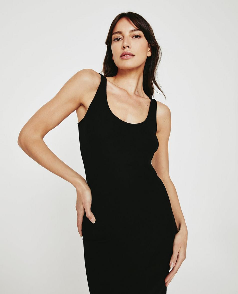 Jean Scoop Neck Tank Dress