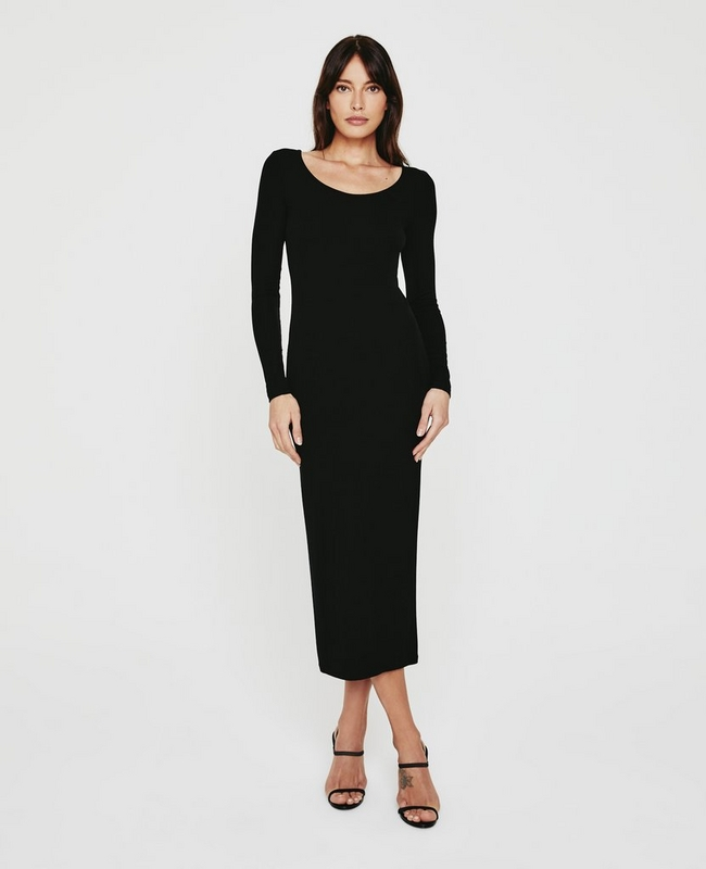 Angela L/S Ballet Neck Dress