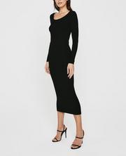 Angela L/S Ballet Neck Dress