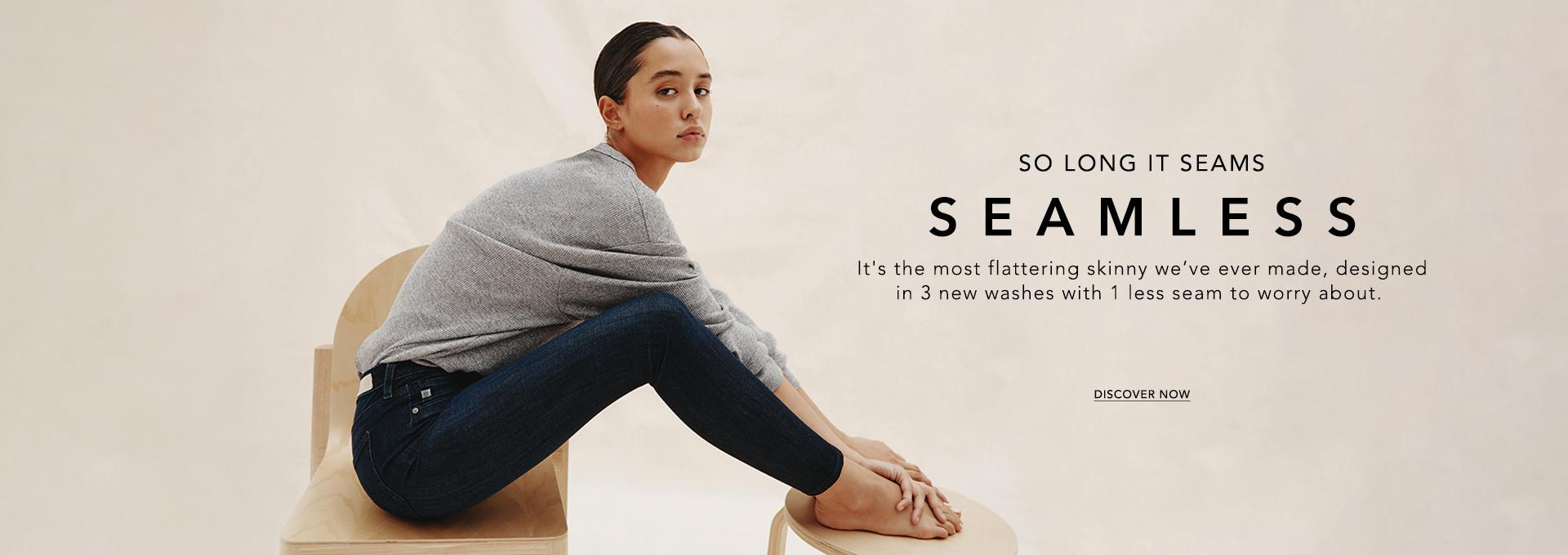 Discover the new Seamless collection in The Farrah Skinny Ankle fit for women