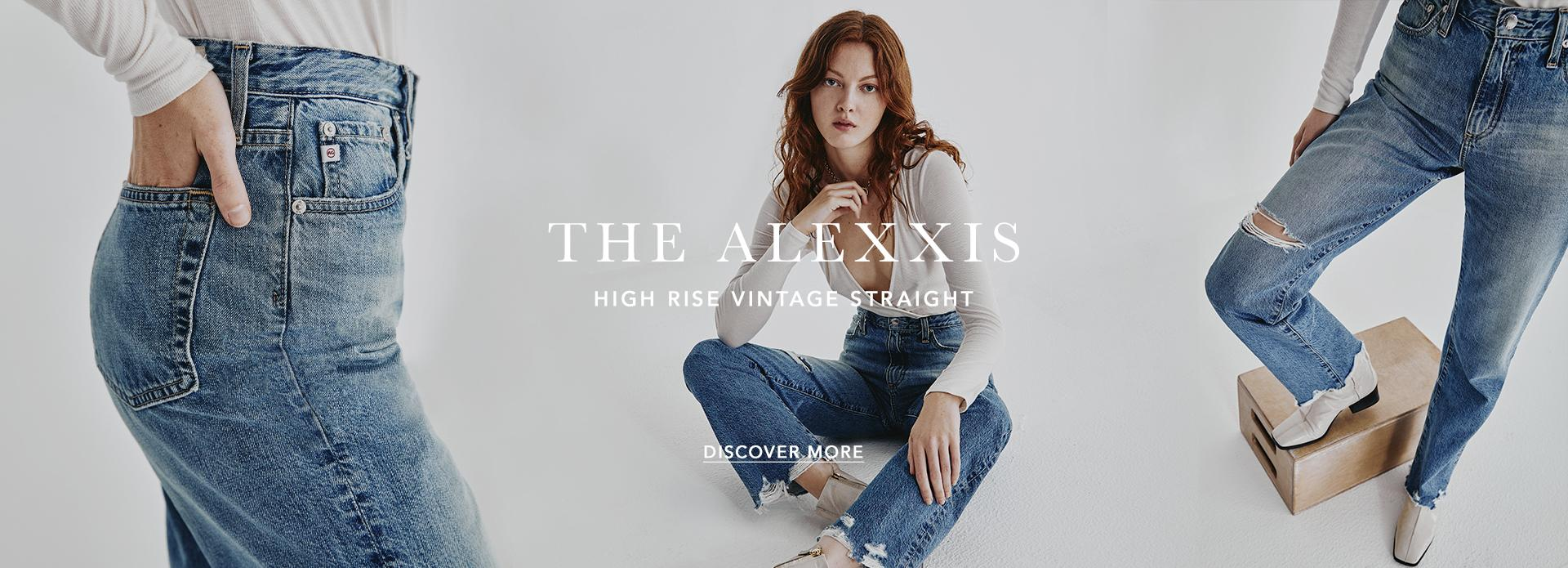 Discover More bout The Alexxis high rise vintage straight fit for women