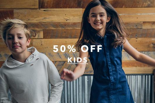 Shop kids styles at 50% off