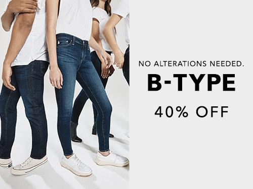 Shop denim from the BTYPE collection at 40 percent off