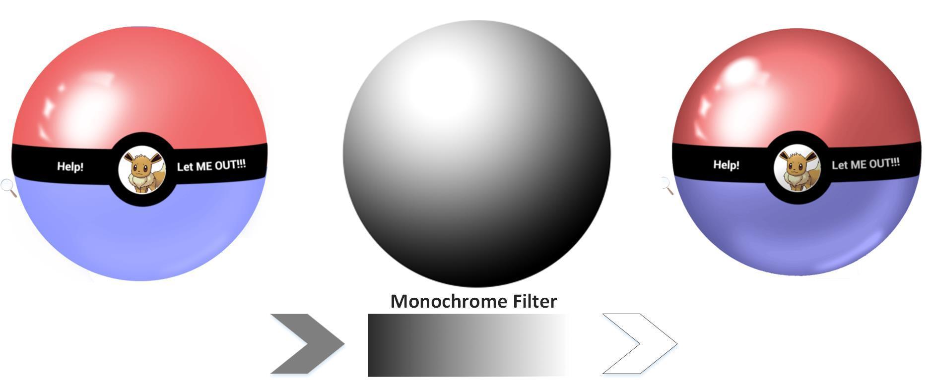 Monochrome-filter