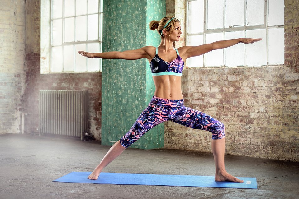Image of a woman exercise at home