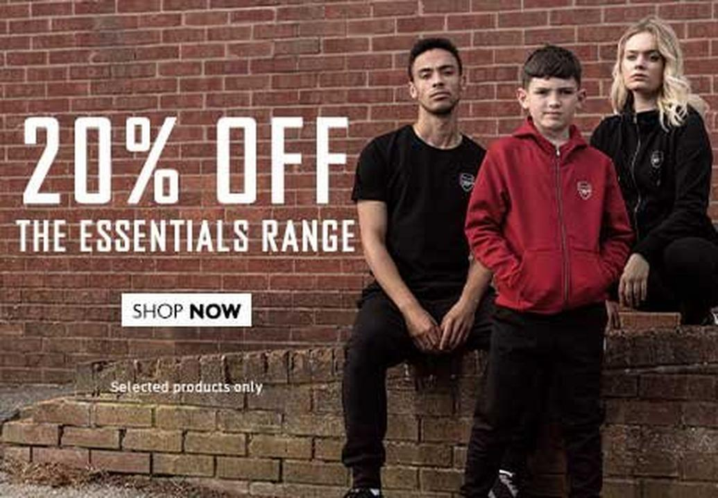 20% off the Essentials Range