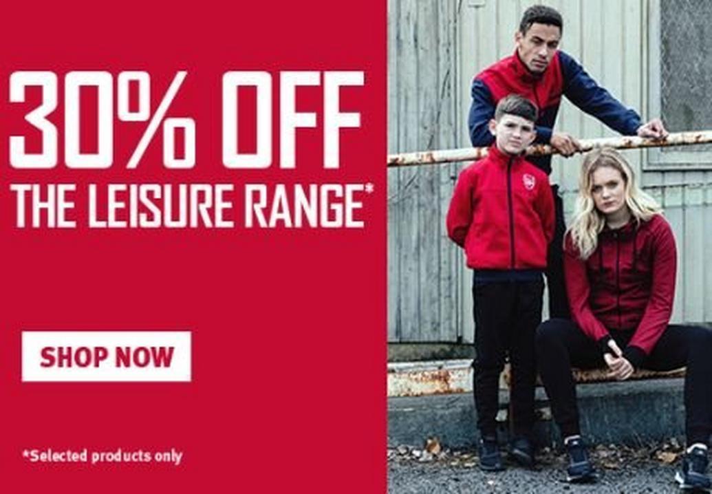 30% off the Leisure Range