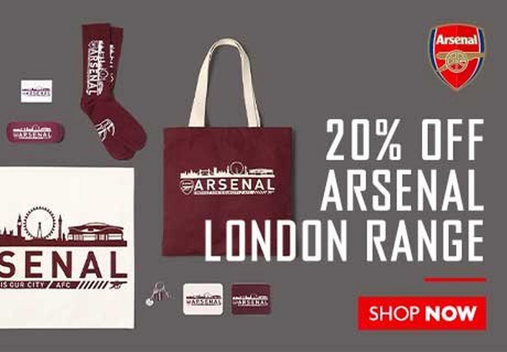 20% off the Arsenal London Range