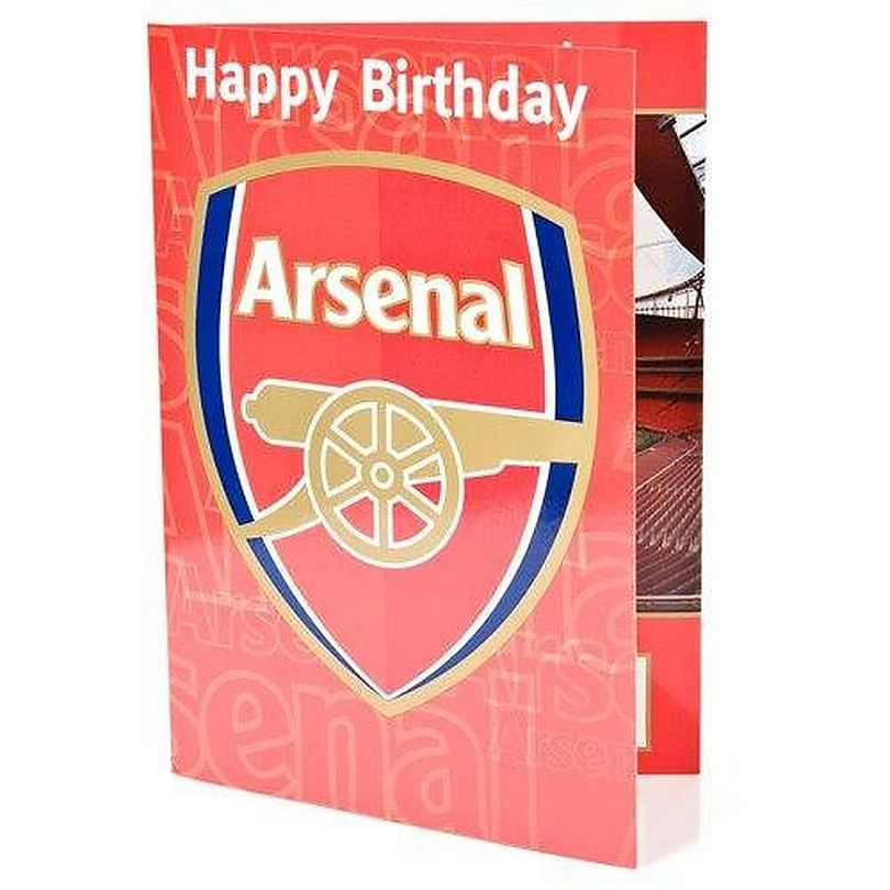 Arsenal Crest Sound Birthday Card
