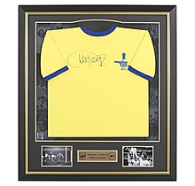 Arsenal Framed Signed Charlie George 1971 Away Shirt